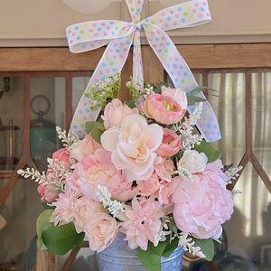 Handmade Peony/Rose Door Wreath
